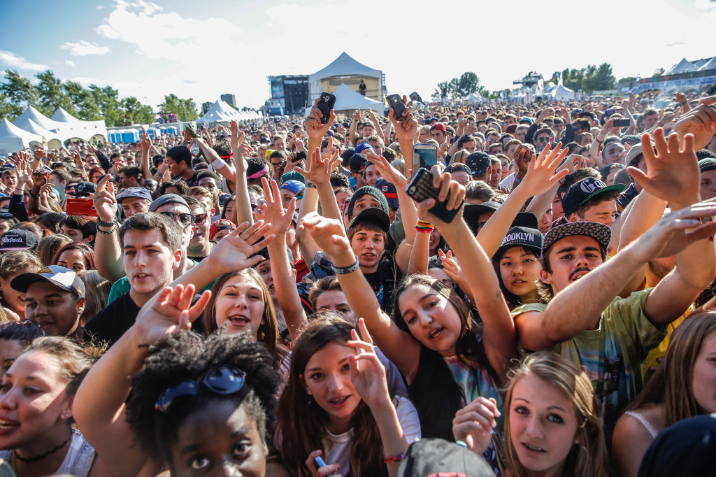 The very young crowd up front for Tyler, the Creator live at the RBC Bluesfest in Ottawa on Tuesday, July 8, 2014. ~ RBC Bluesfest Press Images PHOTO/Mark Horton