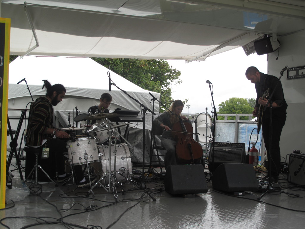 Saturnfly exploring the depths of space and time at Ottawa Folk Festival. Photo: Joseph Mathieu