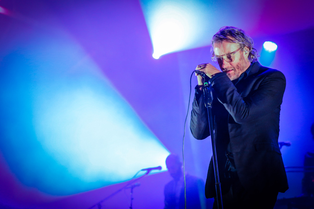 The National's Matt Berninger on stage in front of thousands, alone with his demons. Ottawa Folk Festival Press Images PHOTO/Mark Horton