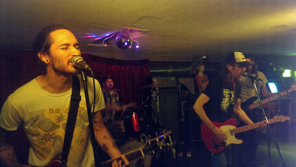 Dead Weights rocking out at House of Targ in Ottawa.