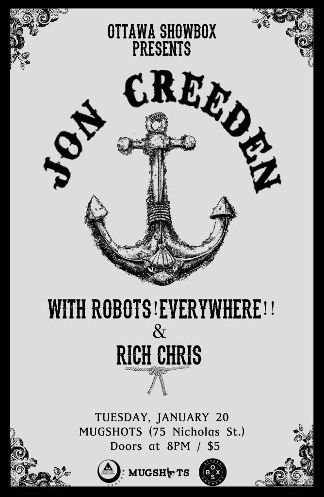 Jon Creeden + Robots!Everywhere!! & Rich Chris @ Mugshots, Feb. 20