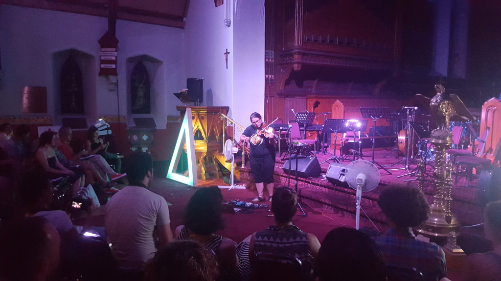 Melody McKiver performing at St. Alban's Church during Arboretum 2015.