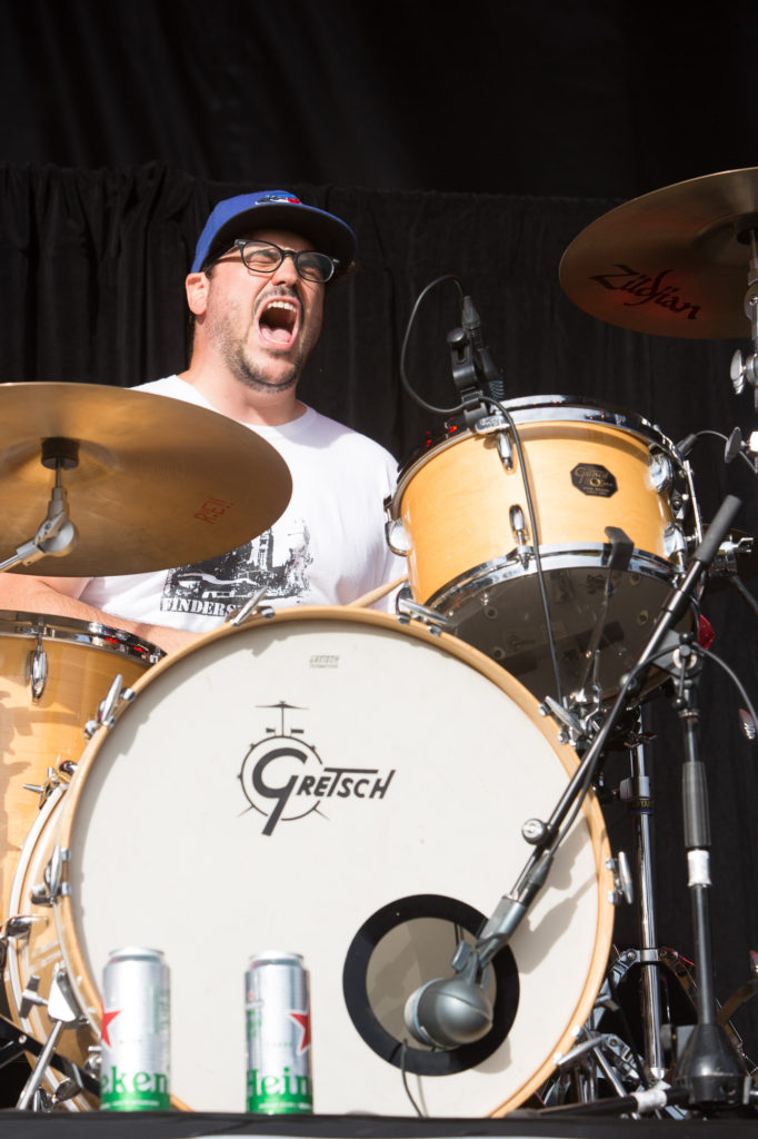 Steamers drummer Phil Castiglione performing at the RBC Bluesfest in Ottawa on Sunday, July 10, 2016. ~ RBC Bluesfest Press Images PHOTO/Scott Penner