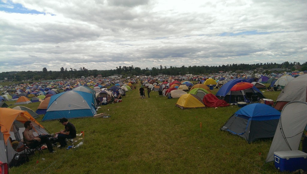 A shot from our camp site, us and over 3000 other tents.