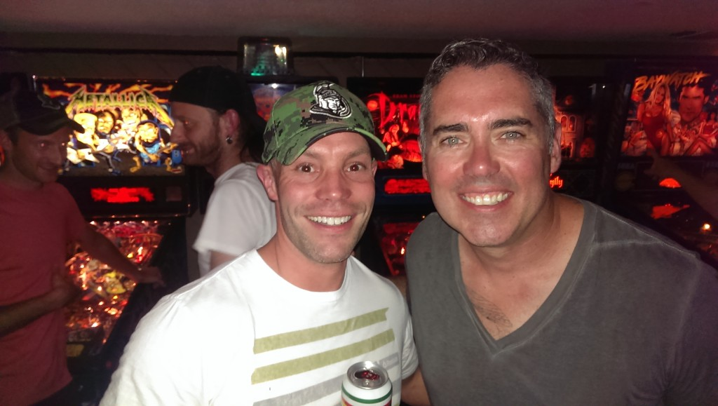 My pal Brett with Ed Robertson of the Barenaked Ladies at House of Targ in Ottawa.