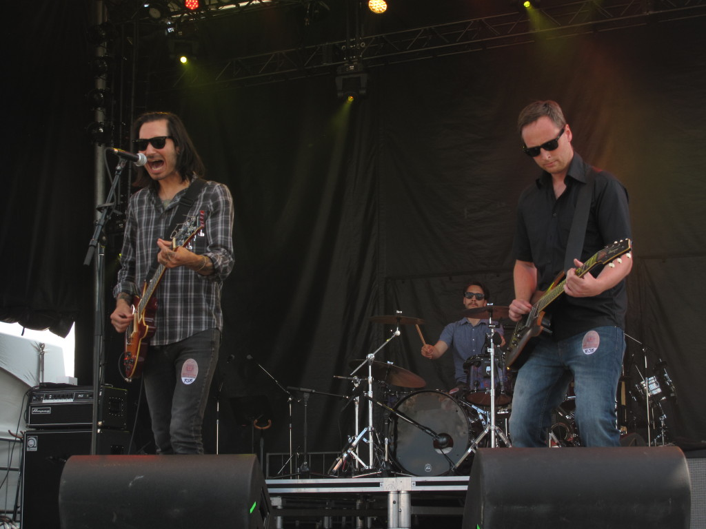 Jonathan Becker & The North Fields played the River Stage on July 12 at RBC Bluesfest. Photo: Joseph Mathieu