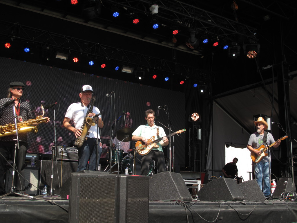 The Iguanas played the Black Sheep Stage with the Texas Horns on July 12 at RBC Bluesfest. Photo: Joseph Mathieu