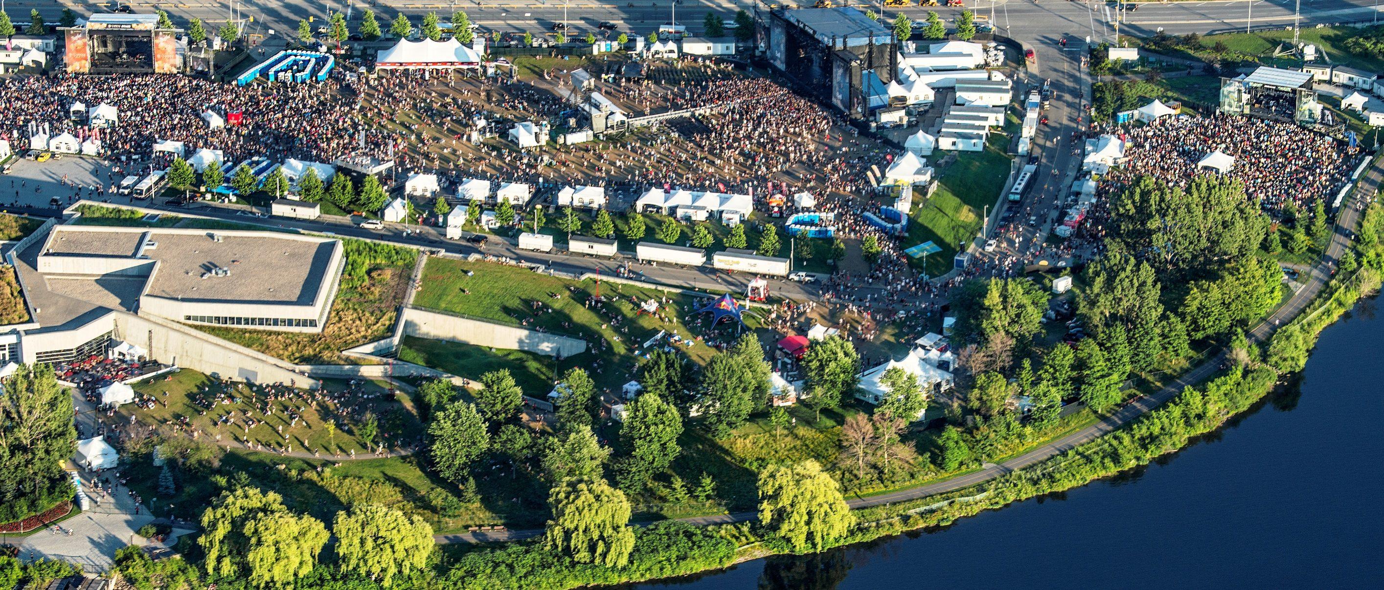 Bluesfest aerial view