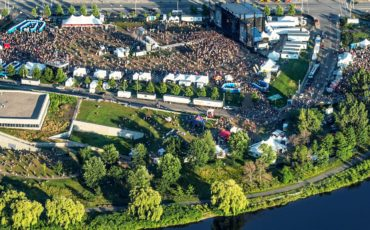 Bluesfest aerial view