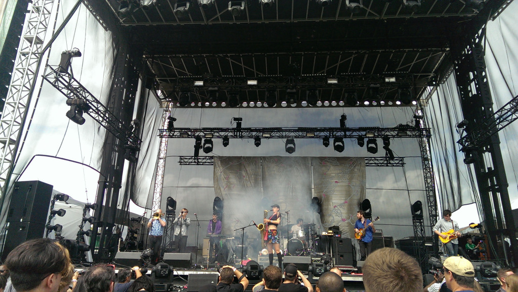 Rubblebucket get down and funky at Riot Fest in Toronto.