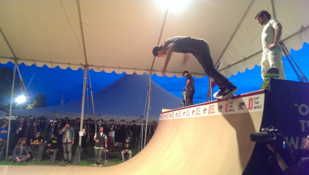 Just a snapshot of some of the fine skateboarding to be seen at Beau's Oktoberfest in Van Kleek Hill.