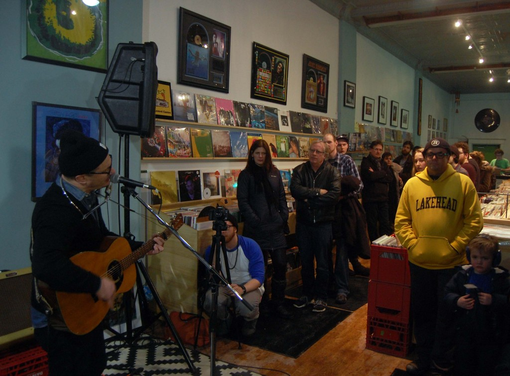 Jim Bryson playing to a packed Record Center during MEGAPHONO in Ottawa, ON.