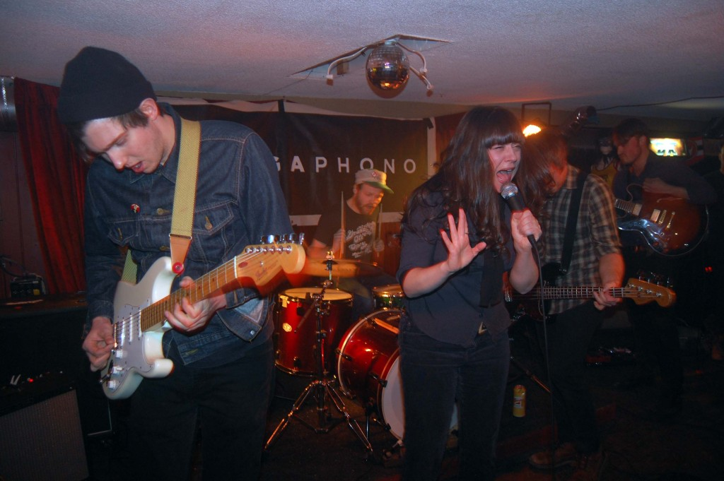 The Yips chanelling their inner deamon during MEGAPHONO at House of Targ in Ottawa, ON. Photo: Eric Scharf