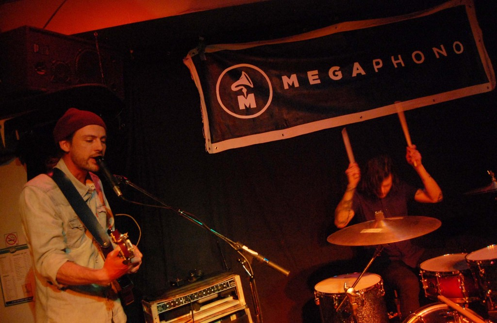 Crosss playing at the Dominion Tavern during MEGAPHONO in Ottawa, ON. Photo: Eric Scharf