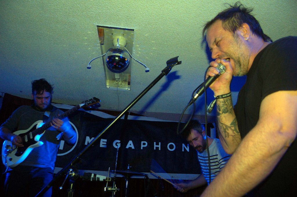 Fet.Nat bringing their frenetic sound to MEGAPHONO at House of Targ in Ottawa, ON. Photo: Eric Scharf