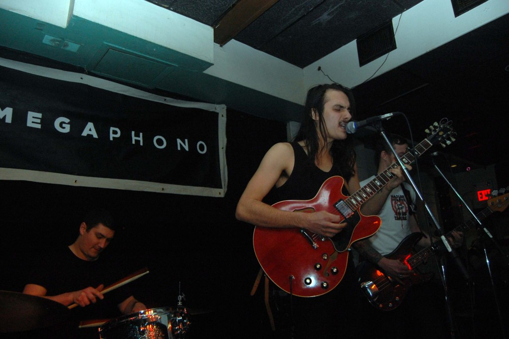 Michael Rault playing at the Dominion Tavern during MEGAPHONO in Ottawa, ON. Photo: Eric Scharf