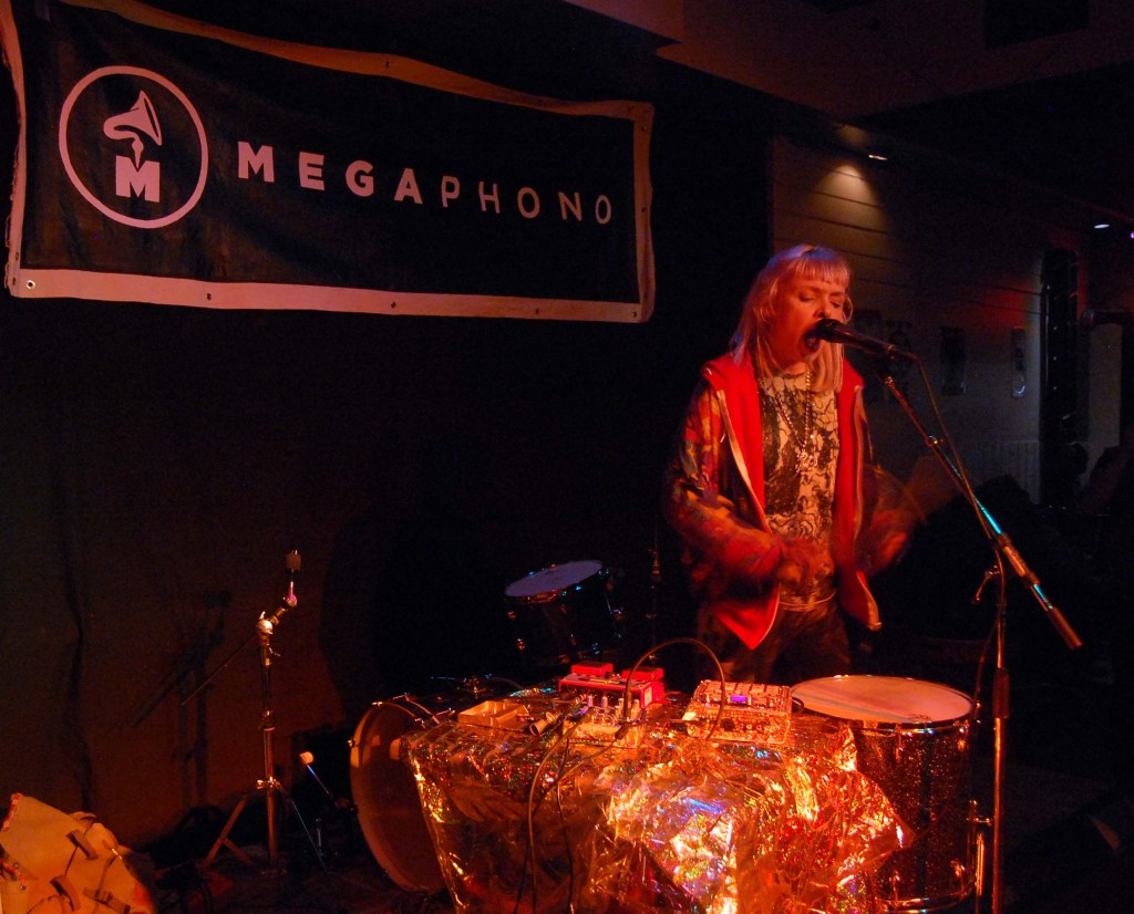Petra Glynt playing at the Dominion Tavern during MEGAPHONO in Ottawa, ON. Photo: Eric Scharf