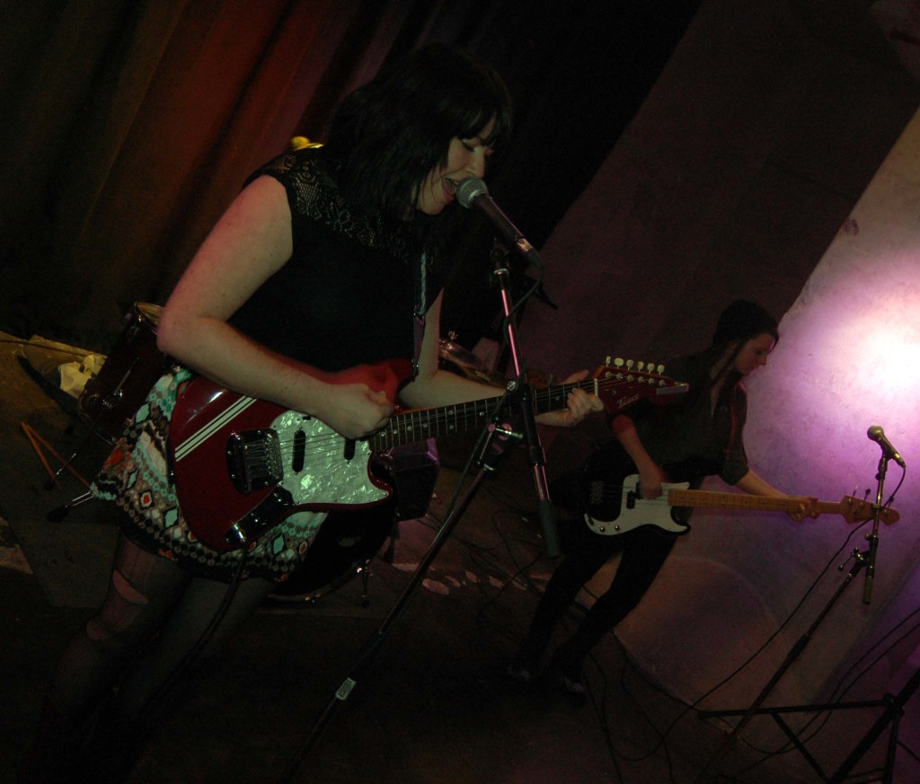 Nightshades performing in the Deifenbunket druing MEGAPHONO in Ottawa, ON. Photo: Eric Scharf