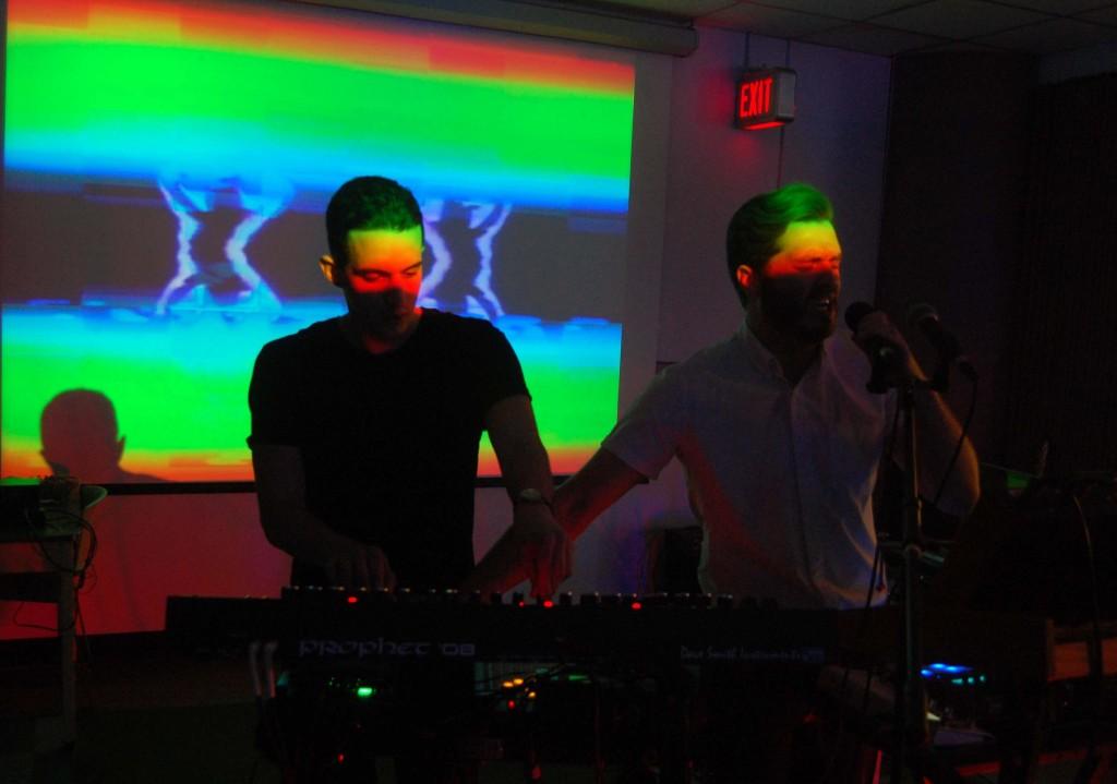 performing in the Deifenbunket druing MEGAPHONO in Ottawa, ON. Photo: Eric Scharf