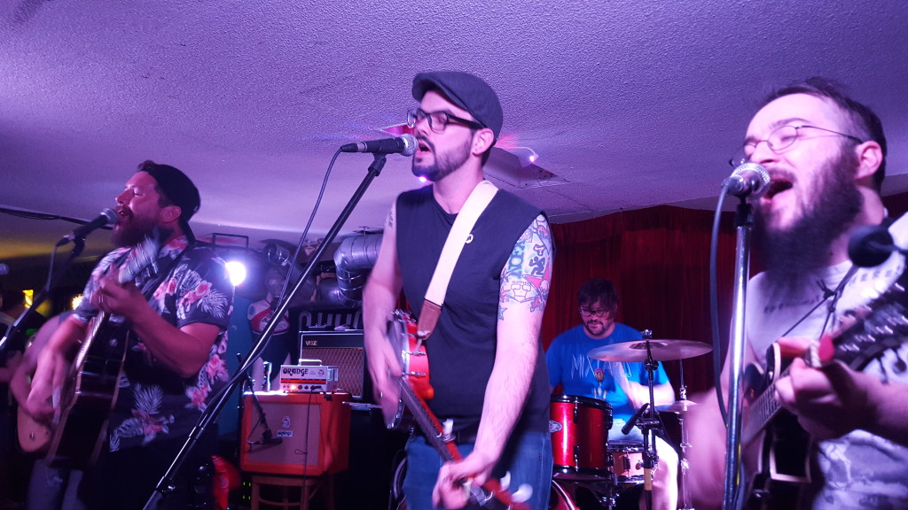 Steamers playing their album release party at House of Targ in Ottawa, ON.