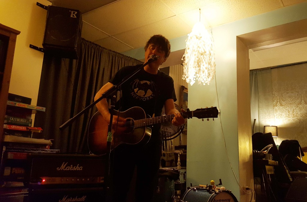 Chris Page playing his album release for Violence Vs. Voices at Raw Sugar in Ottawa, ON.