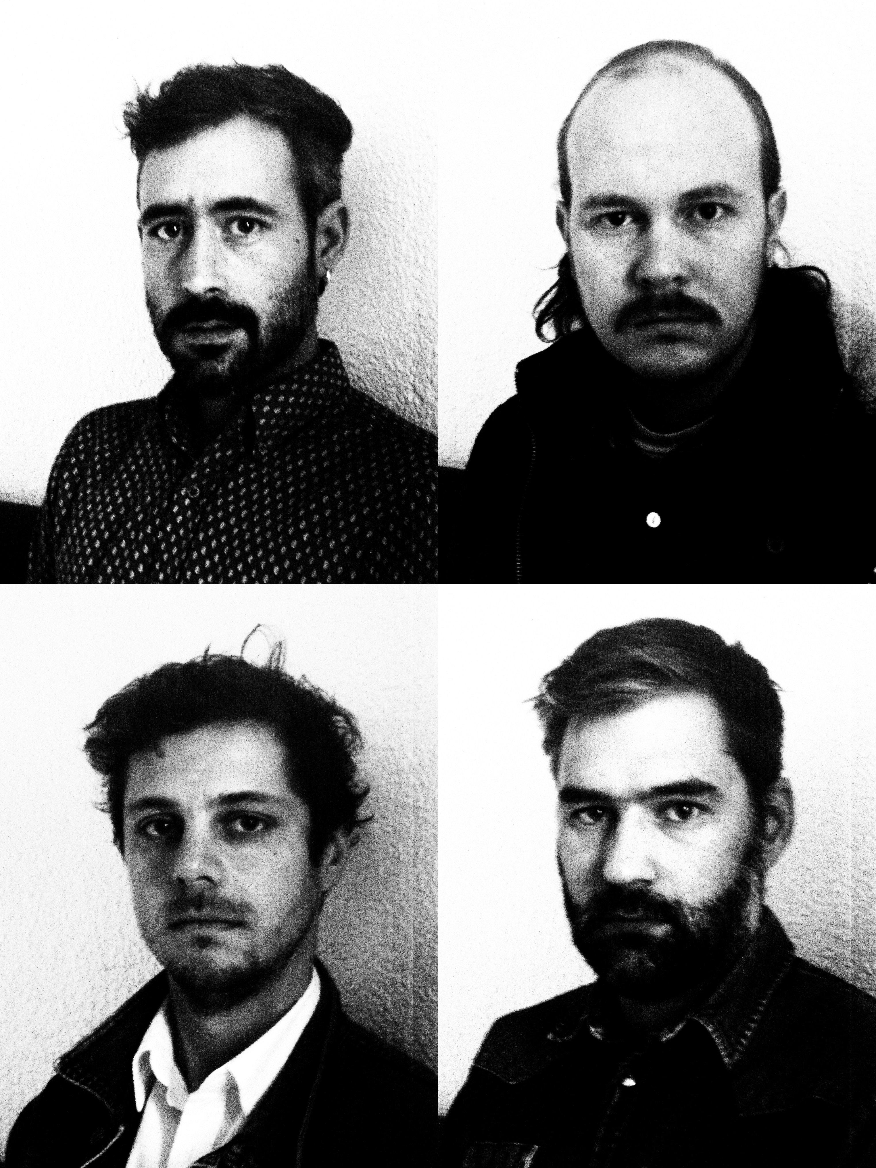 Olivier Fairfield, Taylor Kirk, Mathieu Charbonneau & Simon Trottier=Timber Timbre. Photo Credit: Jean-Baptiste Toussaint