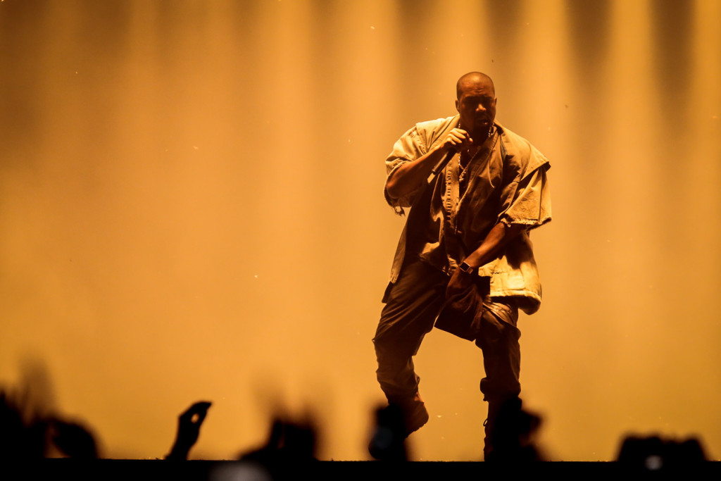 Kanye West is seen here performing at the RBC Bluesfest in Ottawa on Wednesday, July 10, 2015. ~RBC Bluesfest Press Images