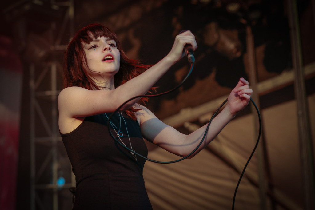 Lauren Mayberry of the band CHVCHES is seen here performing at the RBC Bluesfest in Ottawa on Wednesday, July 15, 2015. RBC BluesfestPress Images PHOTO/Mark Horton