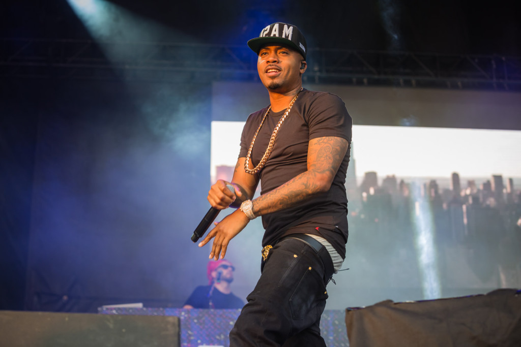 Nas performing at the RBC Bluesfest in Ottawa on Saturday, July 11, 2015.  ~ RBC Bluesfest Press Images, Photo: Scott Penner