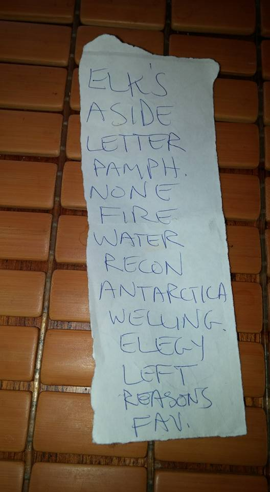 The Weakerthans set list from their November 2001 show at Byblon in Ottawa, on.