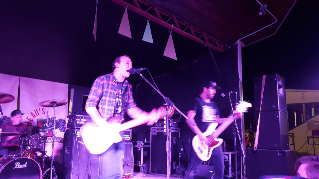 The Flatliners rocking the Black Forest stage at Beau's Oktoberfest in Vankleek Hill.