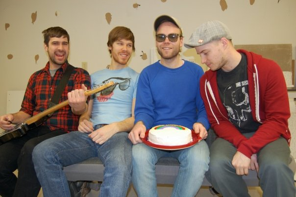 The Sedatives. Left to right: Emanule Sayers, Steve Adamyk, Ian Manhire and ( ).