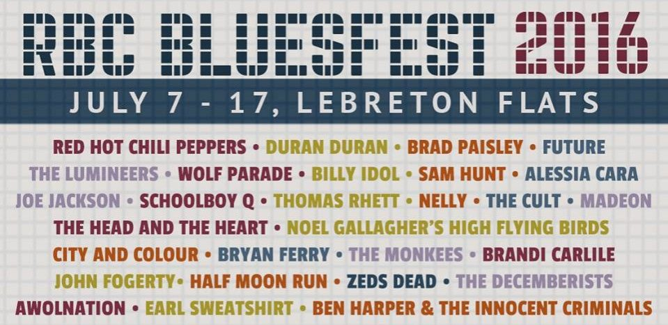 ottawa bluesfest, 2016. lineup, announcement