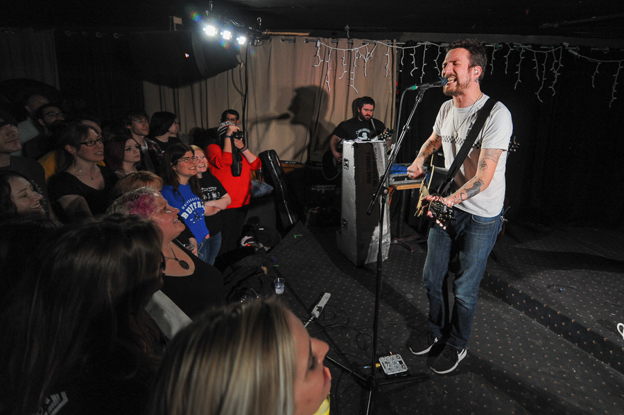 Frank Turner playing The Mansion in Kingston Ontario. Photo: Stephen McGill