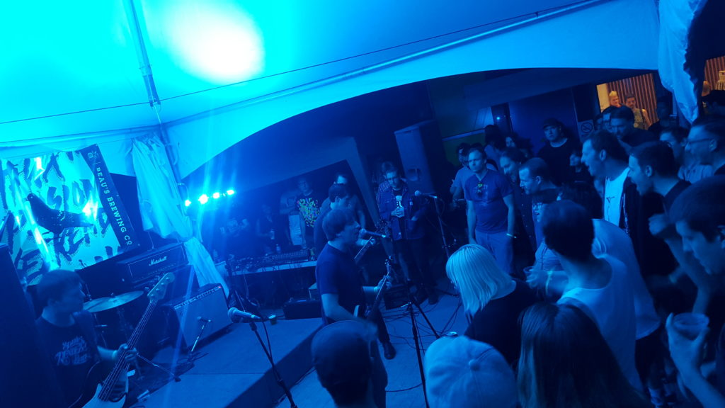 Radioactivity getting the crowd going at Ottawa Explosion Weekend 2016 at SAW Gallery in Ottawa. Photo: Eric Scharf