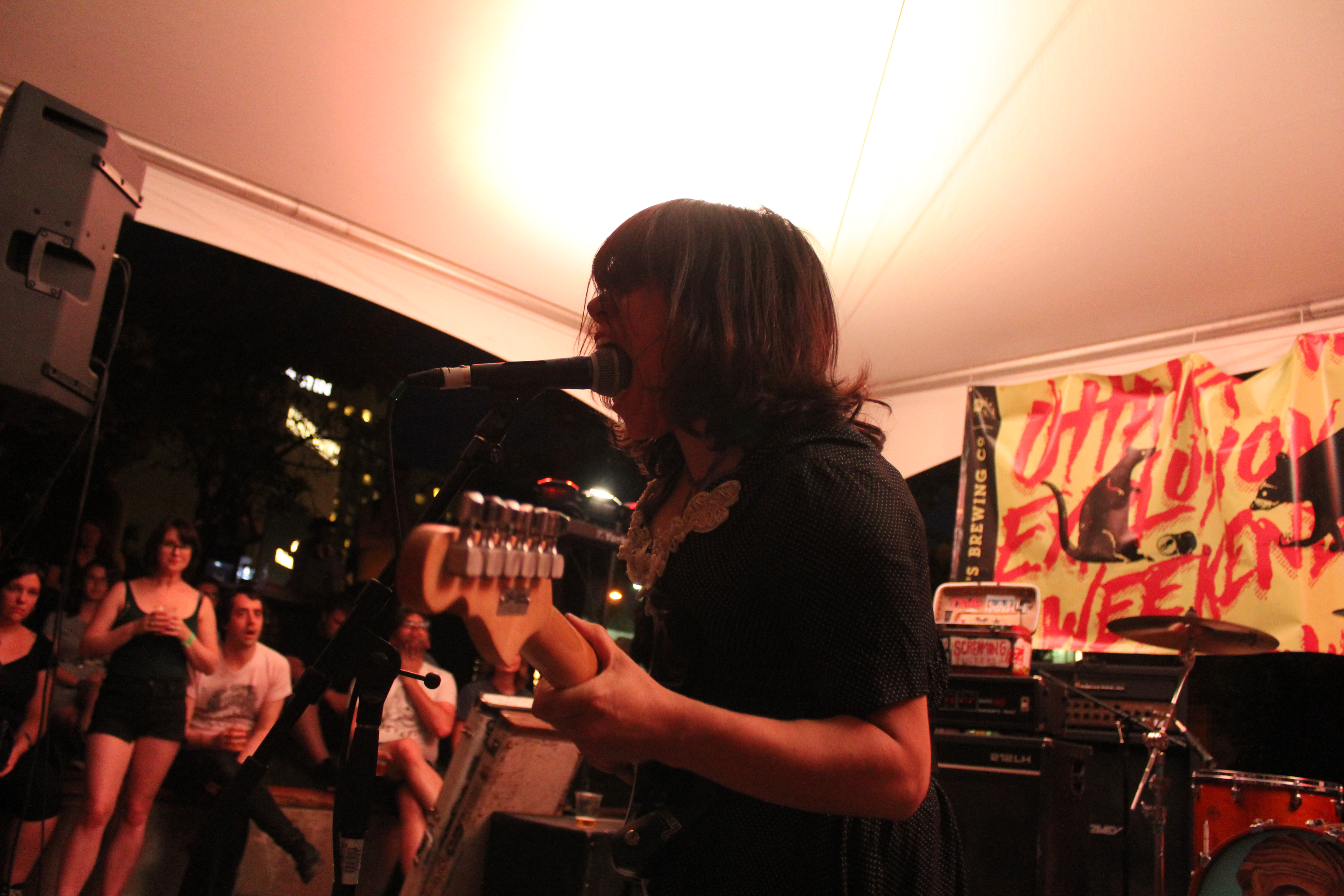 Screaming Females melting our faces at Ottawa Explosion Weekend 2016 at SAW Gallery. Photo: Eric Scharf